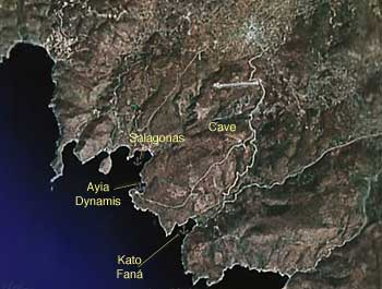 Satellite View of SW Chios