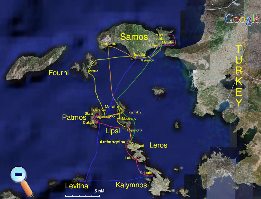 Route to Samos from Leros